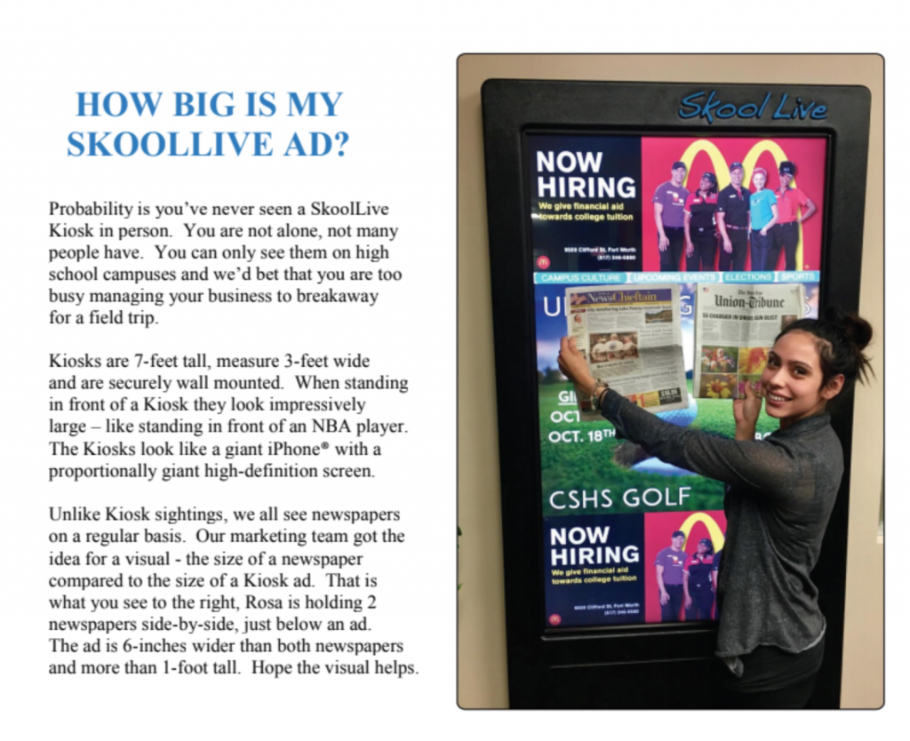 How big is a SkoolLive ad? Yuge!