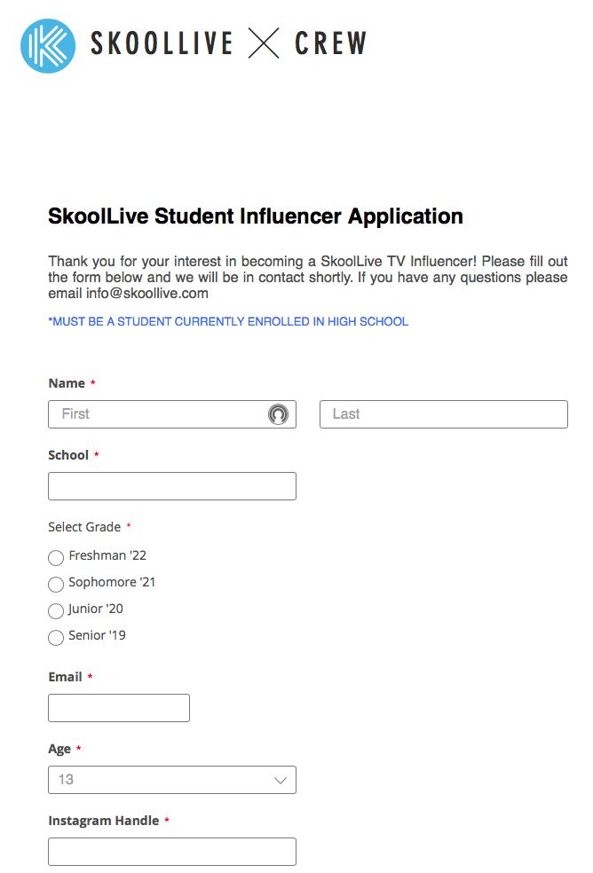 Fool your friends: Skoollive Student Influencer Application