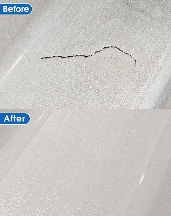 cracked bathtub refinished