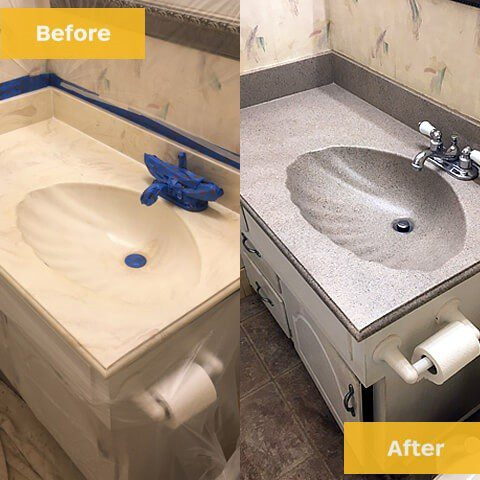 sink refinishing before and after