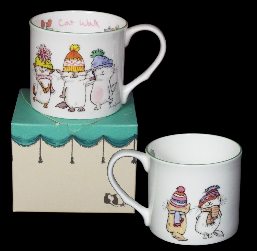 cat walk mug - gifts for cat lovers