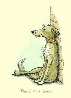 Peace and Quiet - card for dog lover by Anita Jeram
