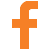 orange faccebook icon 50px