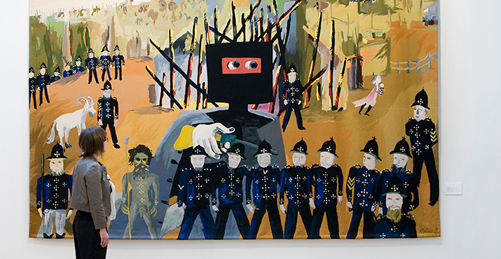 Tapestry of Sidney Nolan's Iconic 'Glenrowan' Painting