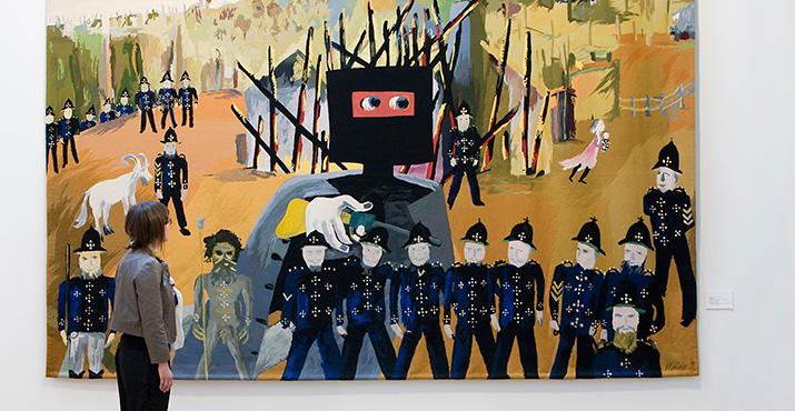 Tapestry of Sidney Nolan's Iconic 'Glenrowan' Painting
