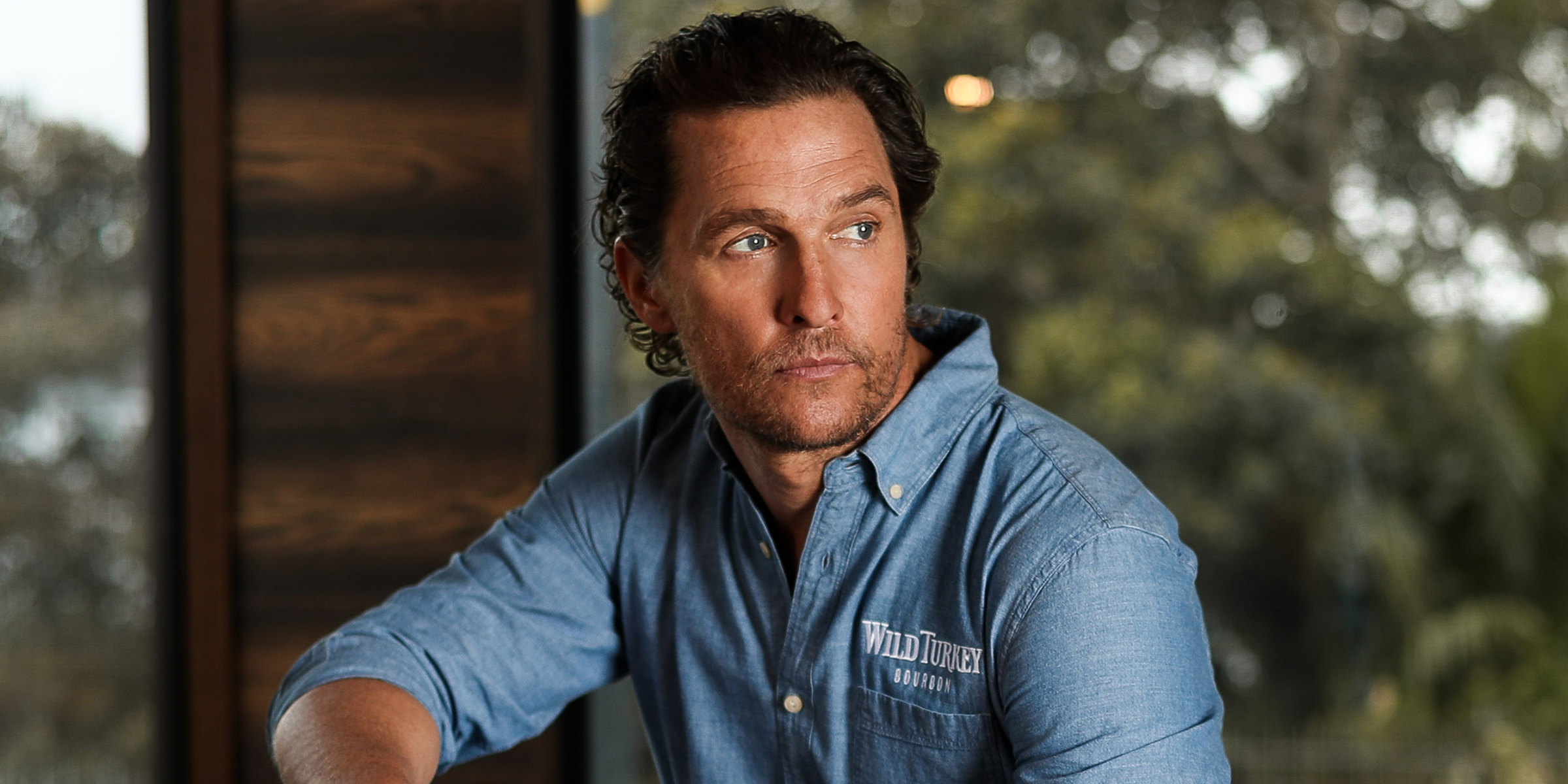 SYDNEY, AUSTRALIA - NOVEMBER 20: Matthew McConaughey launched an off-grid cabin he co-designed with Wild Turkey's charity initiative, With Thanks, at The Royal Botanic Gardens November 20, 2019 in Sydney, Australia. (Photo by Brendon Thorne/Getty Images for Wild Turkey)