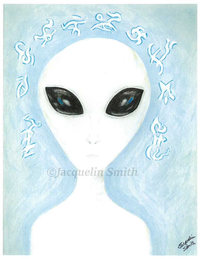 TALL WHITE ZETA MASTER from ALPHA CENTAURI REGION - Cosmic Portrait by Jacquelin Smith