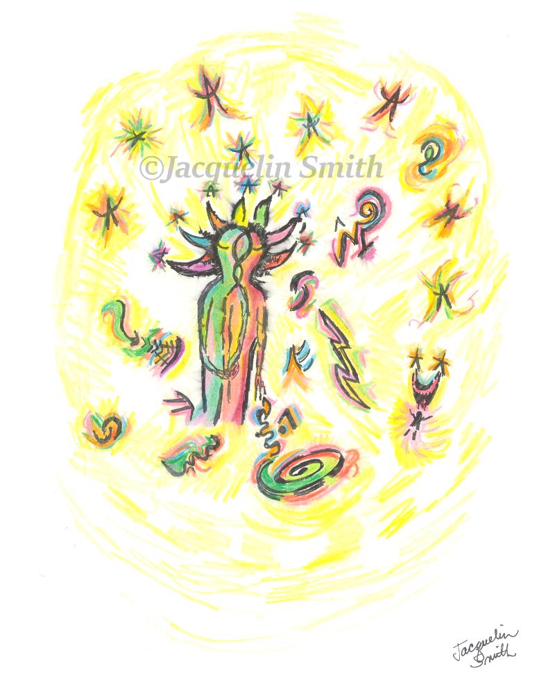 TWIN FLAME Cosmic Portrait