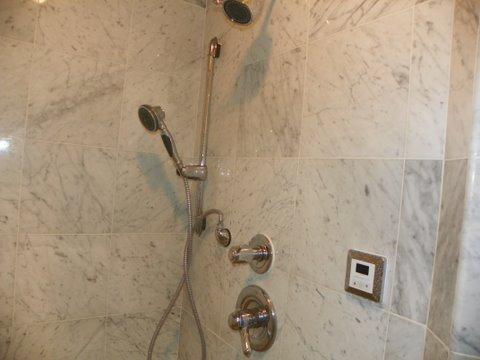 Shower-head installation.