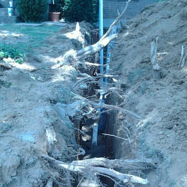 Modern PVC pipe installation.