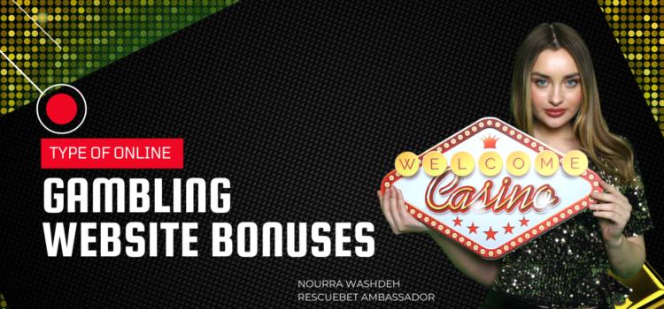 Type Of Online Gambling Website Bonuses Blog Featured Image