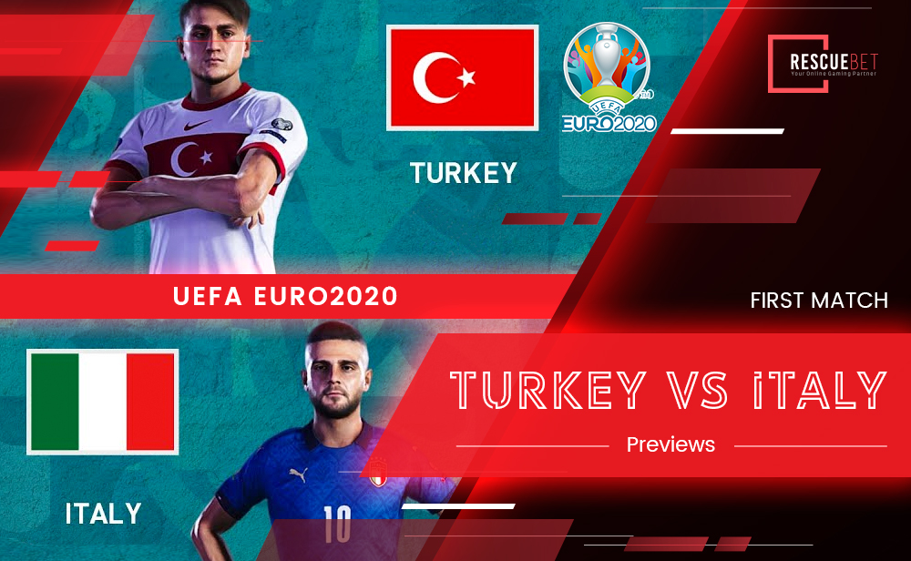 UEFA Euro 2020 Turkey Versus Italy Previews Blog Featured Image