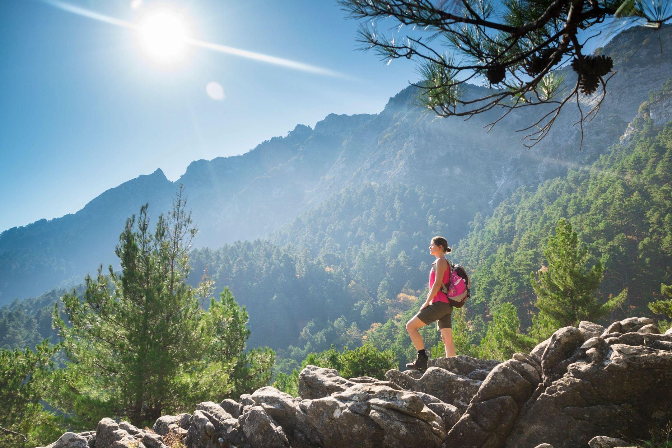 a hiker enjoying the great outdoors