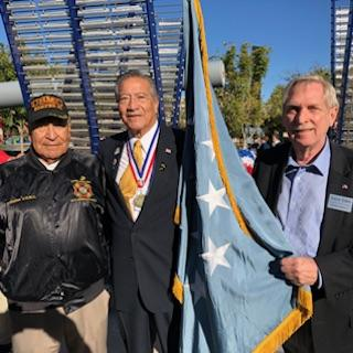 Dave Giles with Veterans