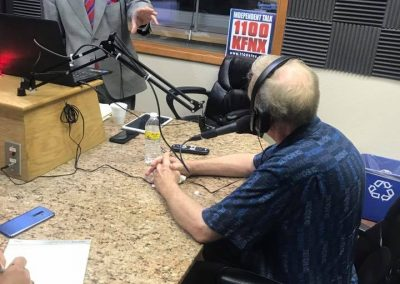 Dave Giles Live on air with DeeMan on KFNX