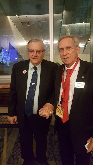 Dave Giles with Joe Arpaio