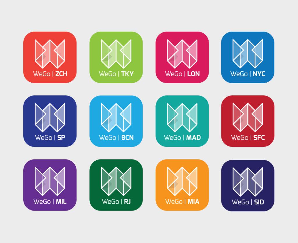 WeGo City app logo design development
