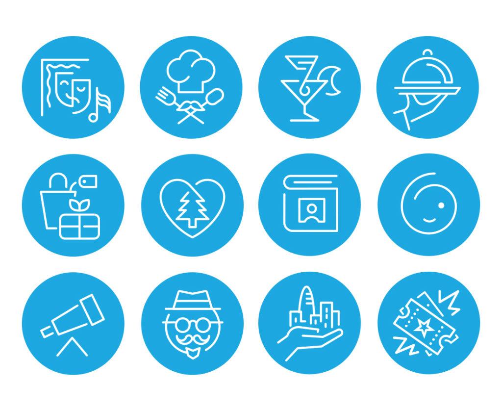 WeGo City app icons