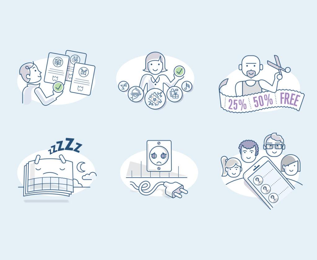 WeGo City app illustrations