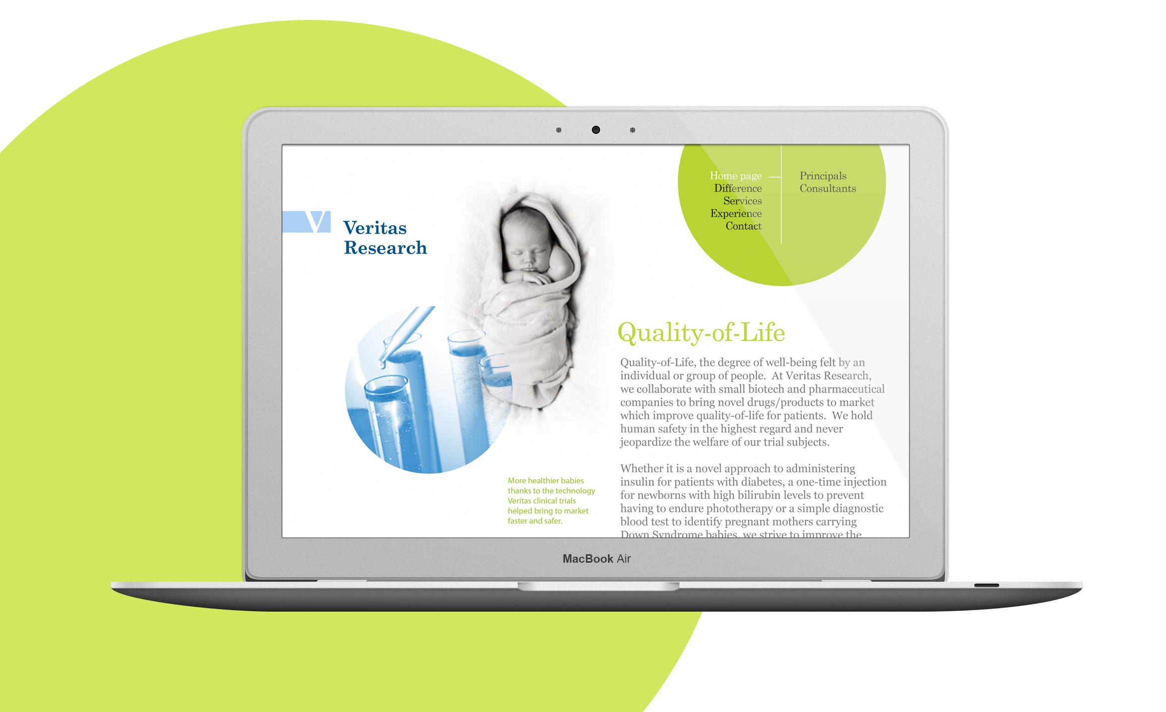 Veritas Research website design 1