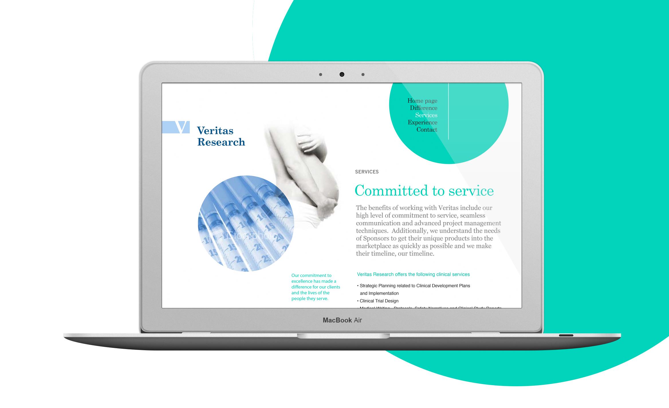 Veritas Research website design 2