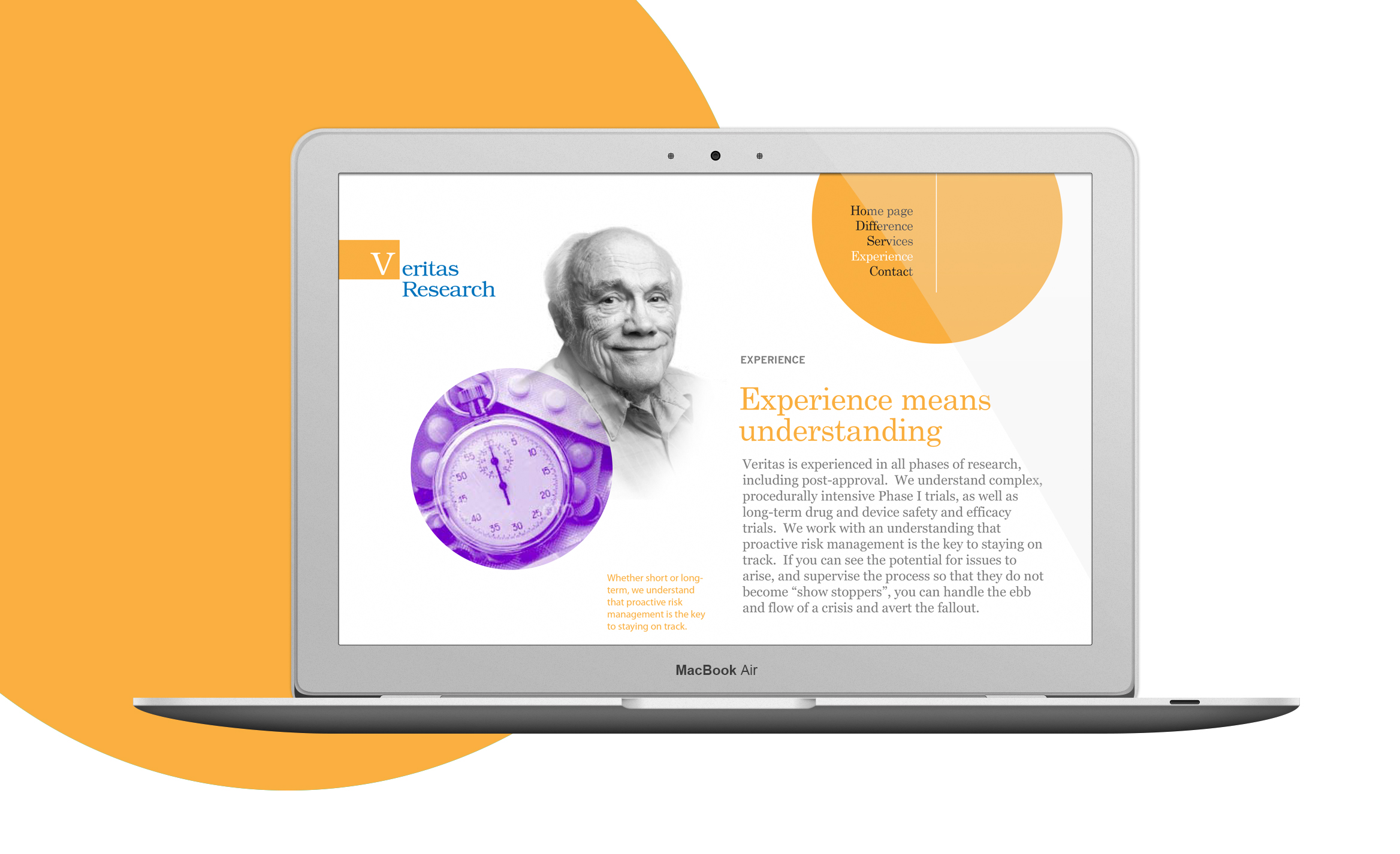 Veritas Research website design 3