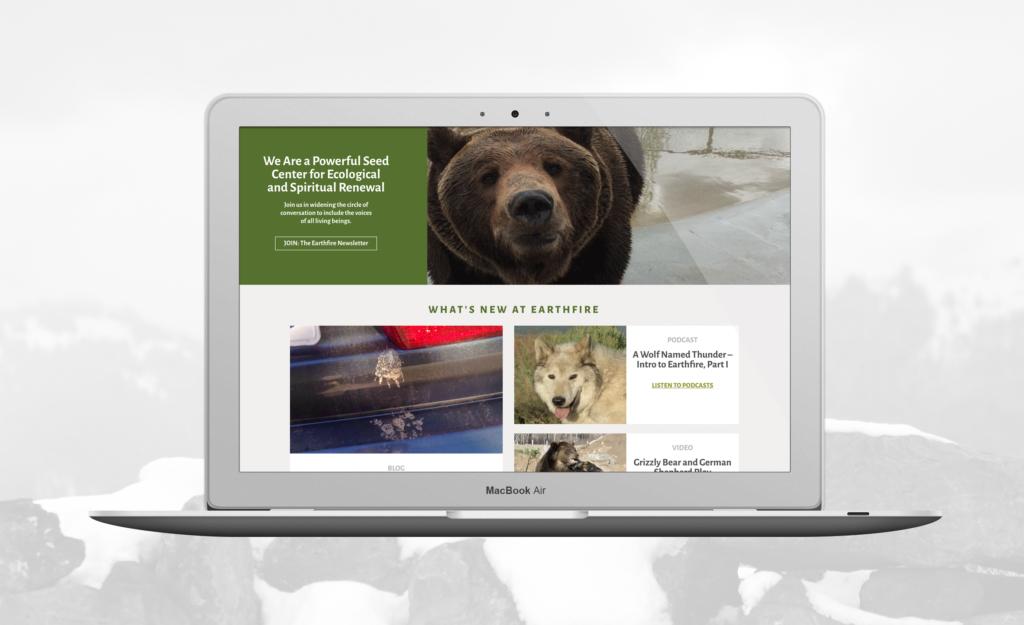 Earthfire Institute responsive website design