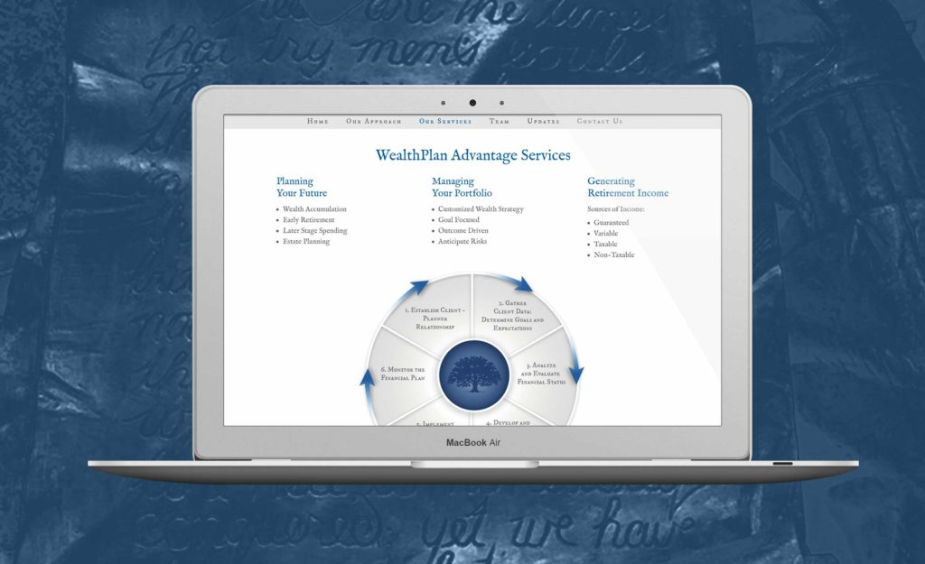 Wealth Plan Advantage website design