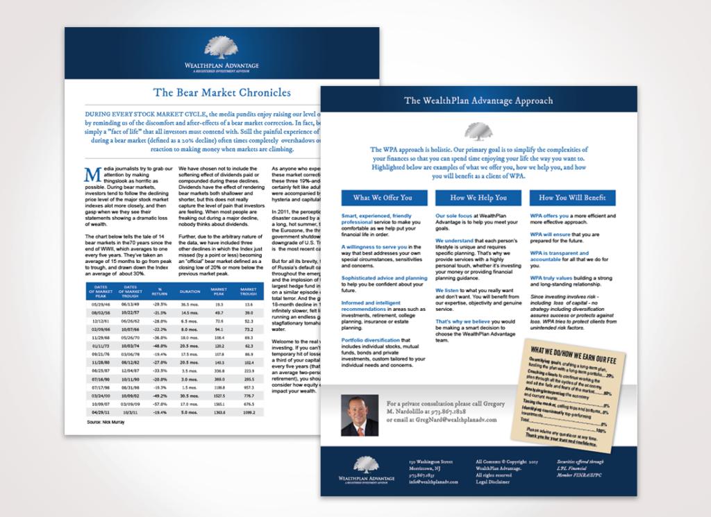 Wealth Plan Advantage marketing materials design