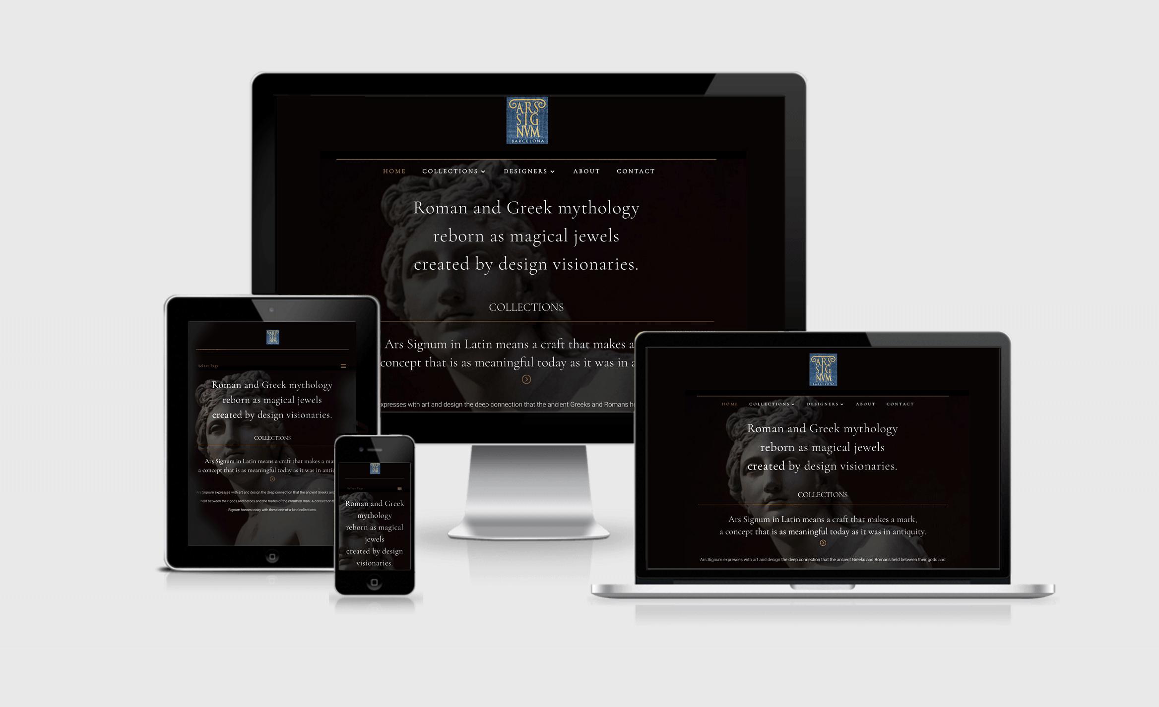 Ars Signum website responsive design by Javier Romero / JRDG