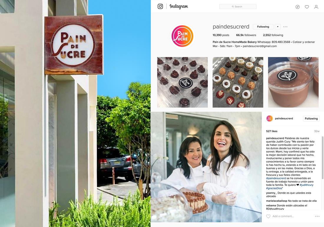 Pain de Sucre social media logo design and signage