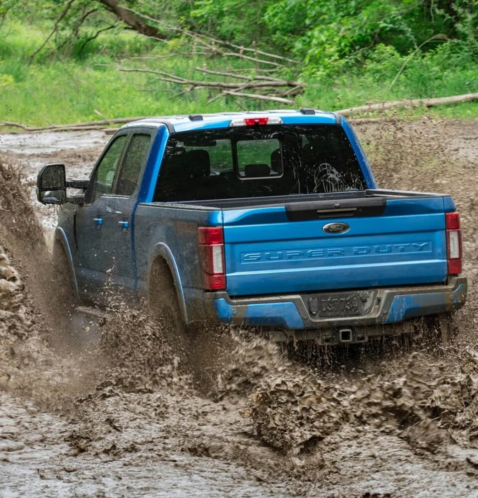 Ford Super Duty in the Mud