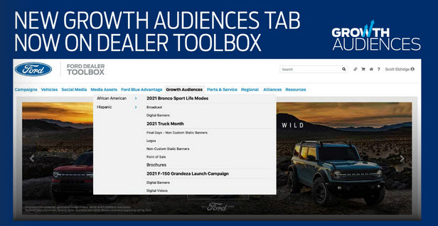 Growth Audiences in Ford Dealer Toolbox