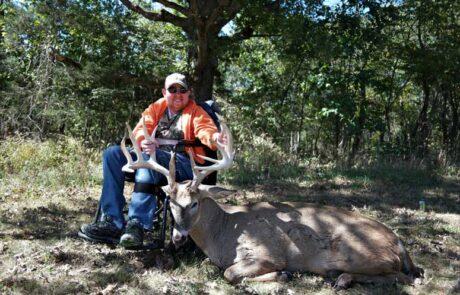 photo-of-sam-with-deer-jared-burke-foundation