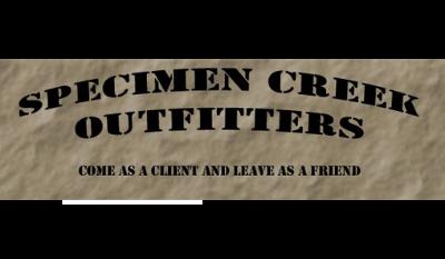 Specimen Creek Outfitters - sponsor