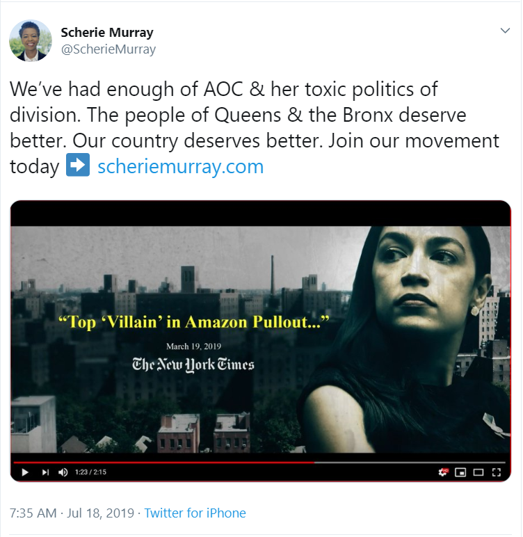 sherie murray blames aoc for amazon loss in NY