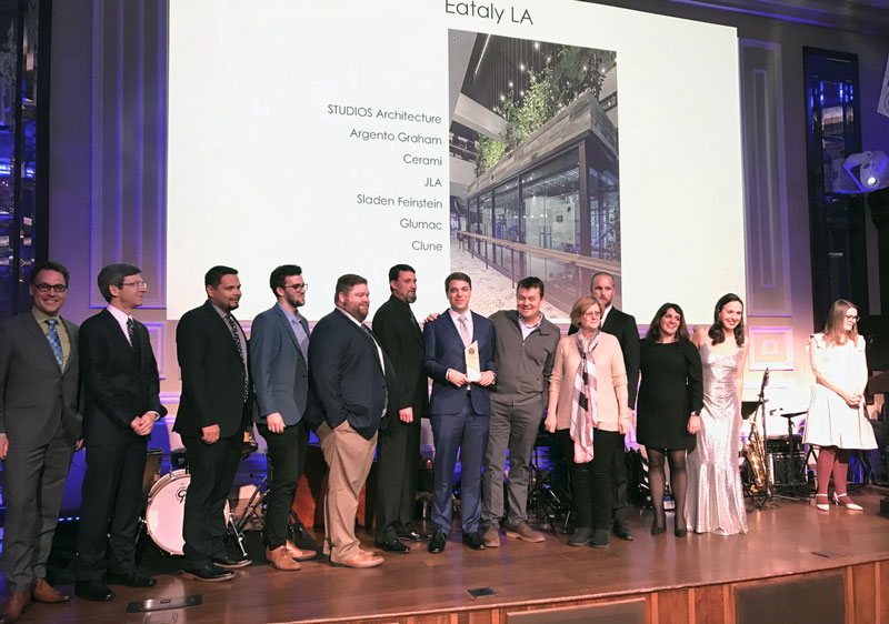 Eataly Sustainability Award LA Ecovie Water management