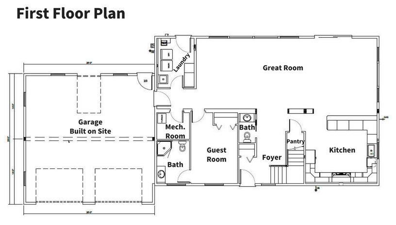 Smith 1st Floor Plan - Simple