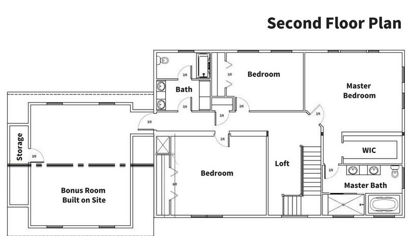 Smith 2nd Floor Plan - Simple