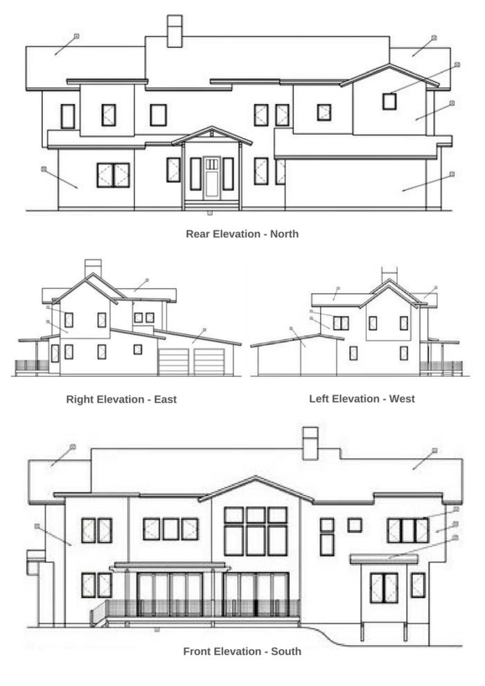Custom Modular Alpine Home Elevations