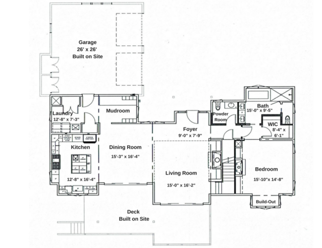 Kitchen, Dining room, Formal entry with Living room and custom fireplace; Master Suite that includes bathroom with garden tub and large tiled walk-in shower; Powder room, Laundry and Mudroom with custom ski lockers.