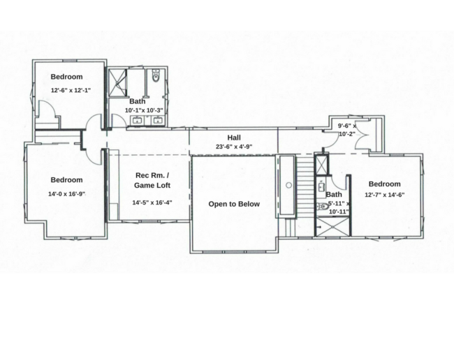 Second Master Bedroom suite, two additional Guest Bedrooms, Guest Bathroom, Family/Game loft, Hall with Balcony