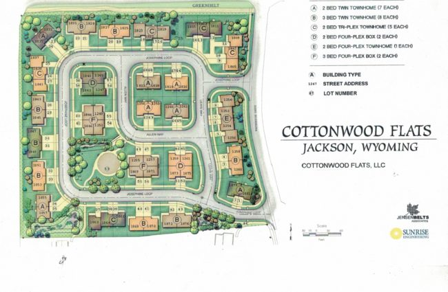 Cottonwood Flats Development Plan Layout
