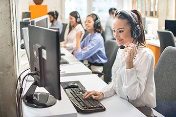 Inbound Call Center Page