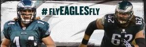 Riley Cooper (left) and Jason Kelce - Photo credit - Philadelphia Eagles