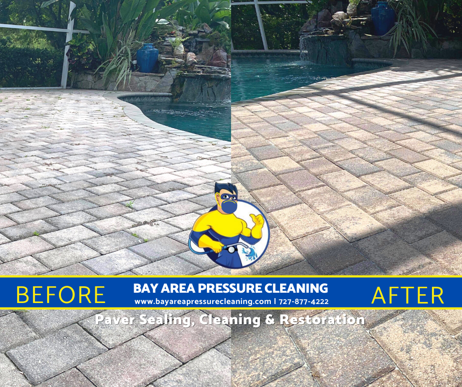 Pasco paver sealing and cleaning. Tampa, Florida pressure washing services
