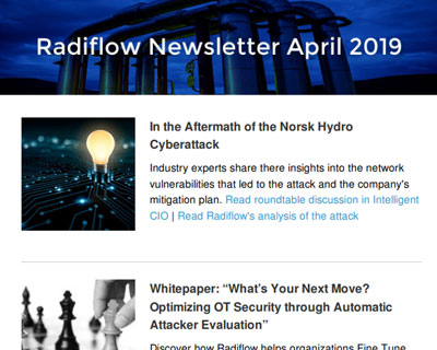 Radiflow Newsletter, April 2019