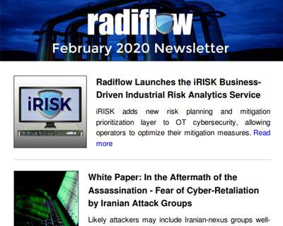 Radiflow Newsletter, February 2020