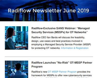 Radiflow Newsletter, June 2019