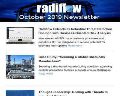 Radiflow Newsletter, October 2019